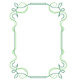 Elegant vertical frame on a white background vector image vector image