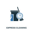 express cleaning icon creative two colors design vector image vector image
