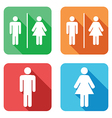 flat toilet signs vector image