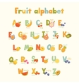Full cute alphabet for kids in bright vector image vector image