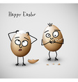 Funny cracked easter eggs vector image