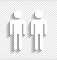gay family sign white icon with soft vector image vector image