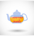 goji berries tea flat icon vector image