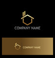 gold house realty company logo vector image vector image