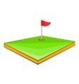 Golf course icon cartoon style vector image vector image