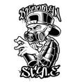 graffiti artist monochrome vector image vector image