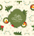 greeting christmas seamless pattern vector image vector image
