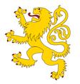 Heraldic lion 24 vector image vector image
