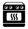 induction stove icon simple style vector image vector image