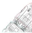 industrial lines wallpaper vector image