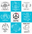 international peace day september 21 set of vector image vector image