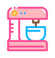 kitchen mixer for cooking icon thin line vector image vector image