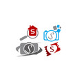 logotype s modern template set vector image vector image