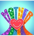 love of a mother vector image vector image