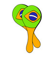 maracas musical instrument icon cartoon vector image