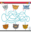 maze puzzle task for kids vector image