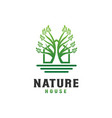nature house logo design template - good to use vector image vector image