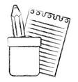notebook school with pencil vector image vector image