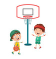 of kid playing basketball vector image
