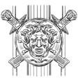 old lattice with gorgon vector image