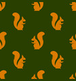 orange squirrel seamless pattern vector image