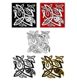 Ornamental birds in celtic style vector image vector image