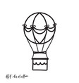outline hot air balloon vector image