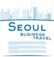 Outline Seoul skyline vector image vector image