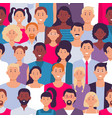 people crowd pattern young multiethnic men vector image