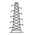power station icon outline style vector image