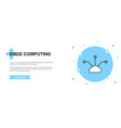 printedge computing icon banner outline template vector image vector image