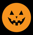 Pumpkin round icon smiling face emotion trriangle
