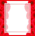 red corn poppy banner card border vector image vector image