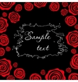 Red roses on a black background Template for vector image