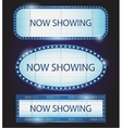 Retro Showtime Sign Theatre cinema vector image