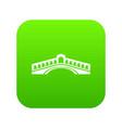 rialto bridge icon green vector image vector image
