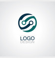 round circle technology logo vector image vector image