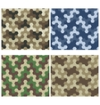 Seamless Camouflage Geometric Pattern Set Three vector image vector image