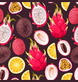 seamless exotic friut vector image vector image