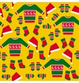 Seamless Pattern with Christmas Clothes vector image