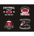 set american football team campus badges logos vector image vector image