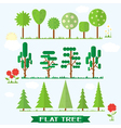 Set flat tree flower spruce vector image