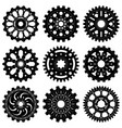 set gear wheels or cogs vector image