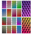 set of geometric wallpaper for smartphone screen vector image vector image