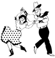 Square dance clipart vector image vector image
