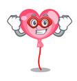 super hero ballon heart character cartoon vector image