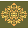 The art pattern on green background vector image vector image