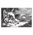 the good samaritan binds the wounds of an injured vector image vector image