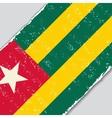 Togo grunge flag vector image vector image
