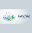 travel to dubai uae time to travel banner with vector image vector image
